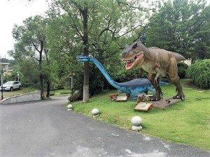 dinosaure jardin