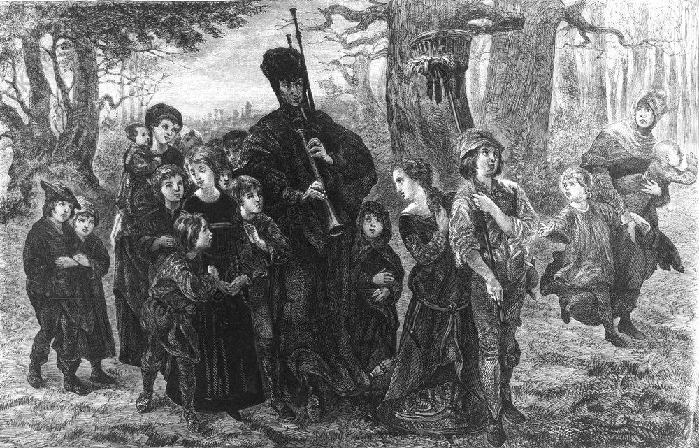 Rattenfänger von Hameln / Spangenberg - Pied Piper of Hamelin / Spangenberg - Le Joueur de flûte d'Hamelin/Spangenberg