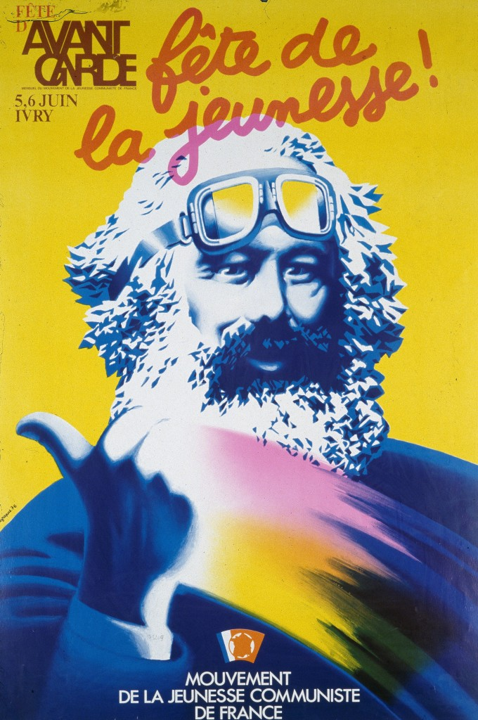 Marx motocycliste, par  Grapus